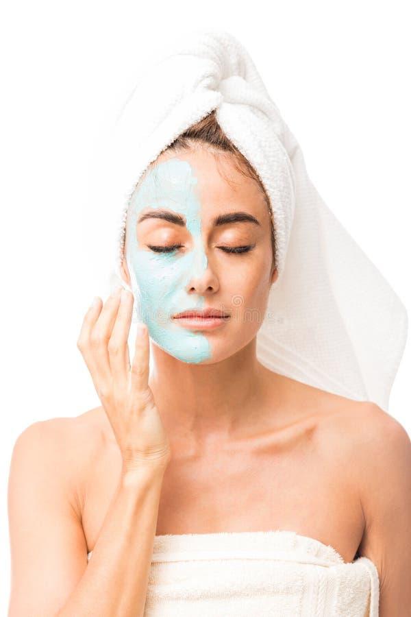 Máscara facial para rejuvenescer a pele fotos de stock royalty free