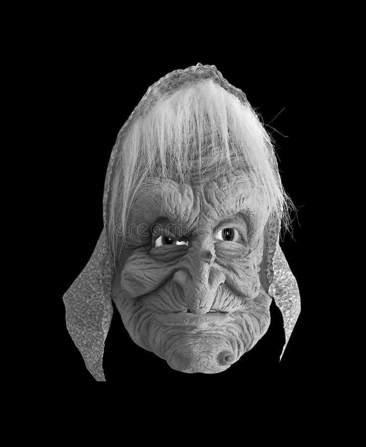 Máscara feia da bruxa fotos de stock
