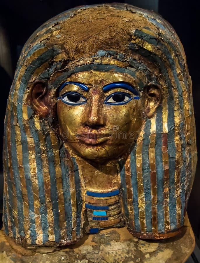 Máscara funeraria antigua de Egipto imagen de archivo libre de regalías