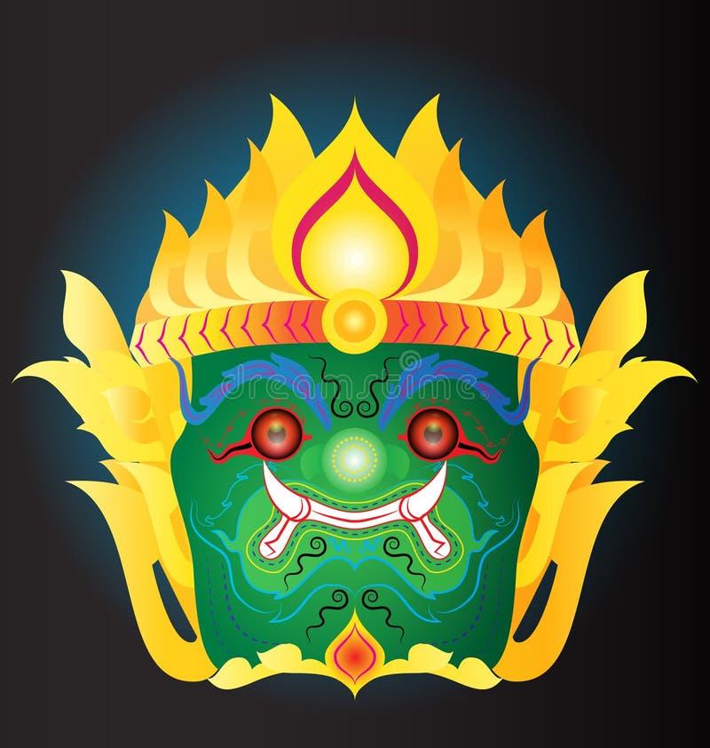 Máscara gigante tailandesa ilustração stock
