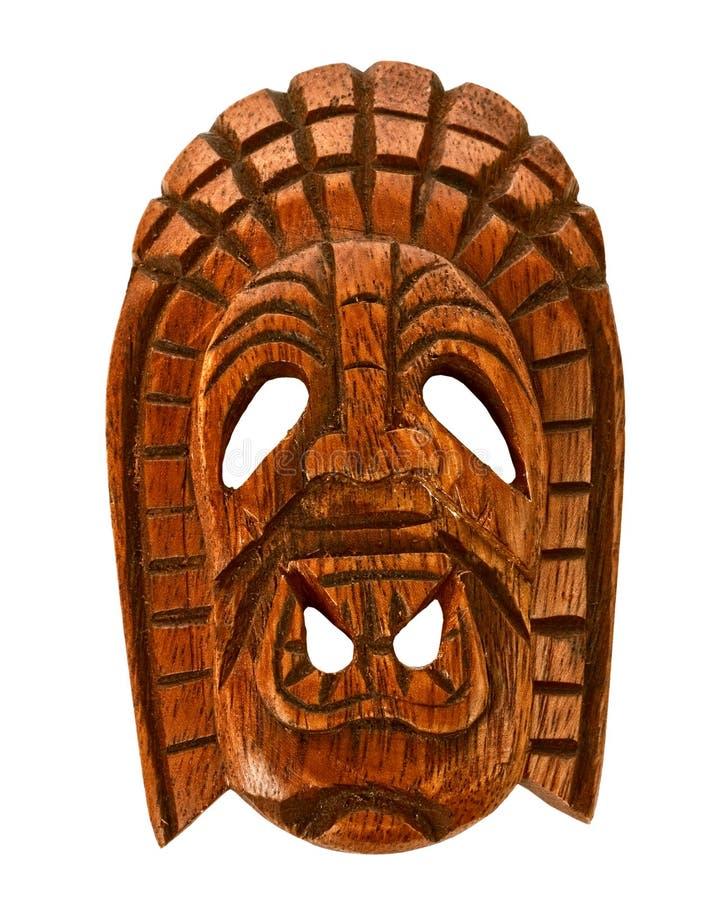 Máscara hawaiana de madera fotografía de archivo