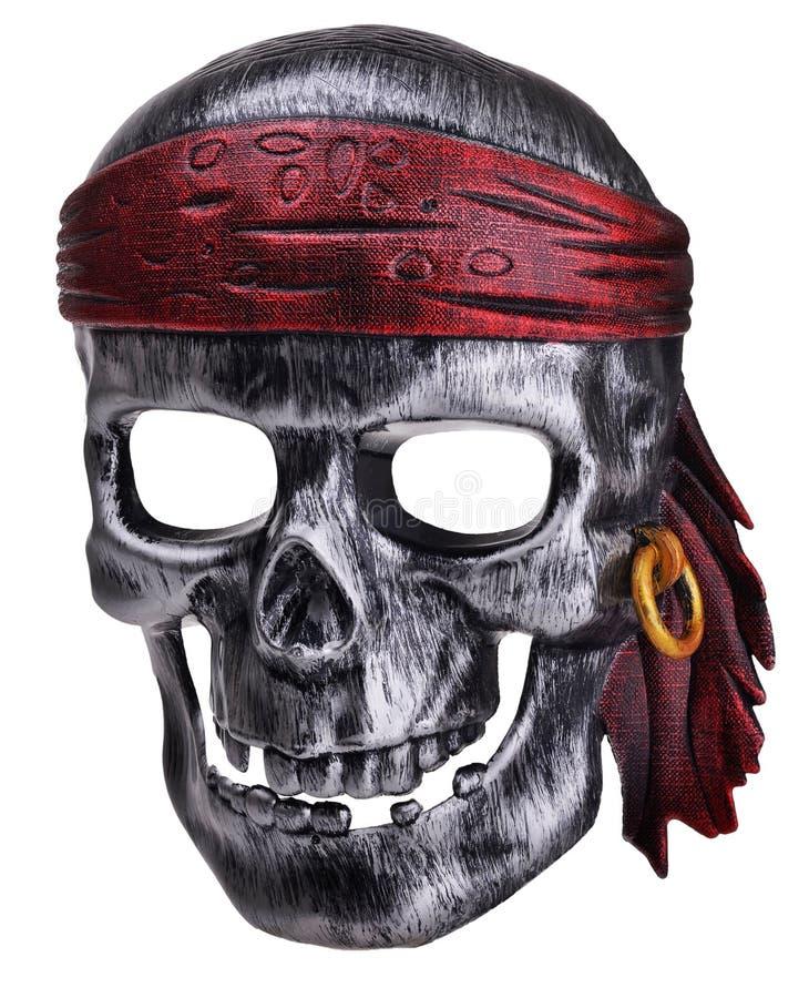 Máscara humana do crânio do pirata fotografia de stock royalty free