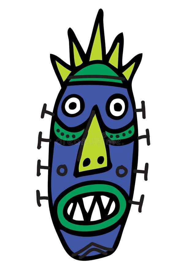 Máscara ritual ilustración del vector