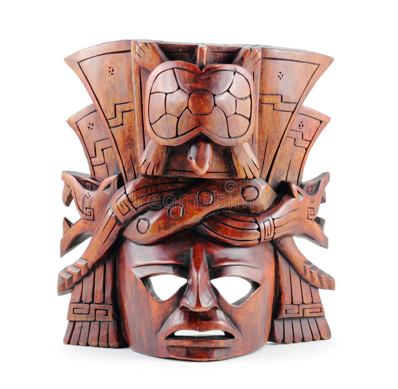 Máscara maia fotografia de stock