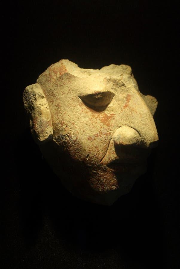 Máscara maia com nariz longo fotos de stock
