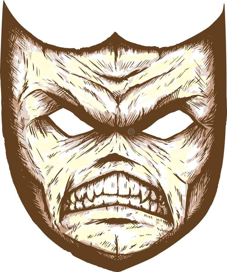 Máscara masksScary del teatro ilustración del vector