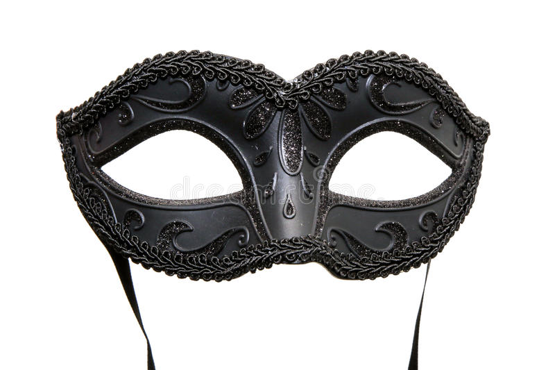 Máscara negra del carnaval imágenes de archivo libres de regalías