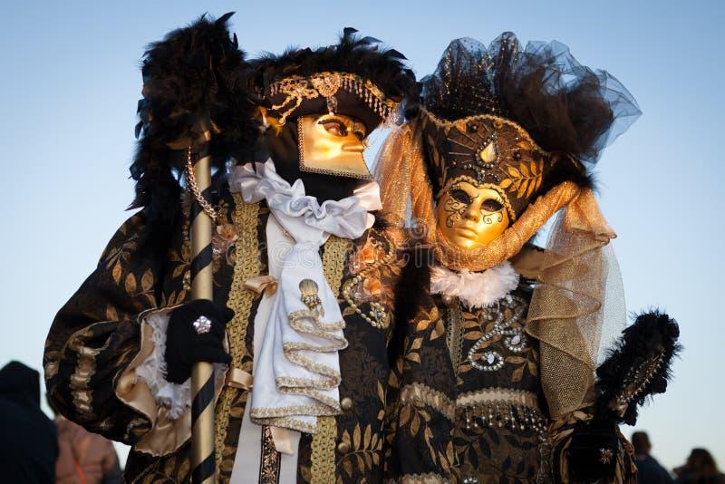 Máscara no carnaval Venetian, Veneza, Italia (2012) imagens de stock
