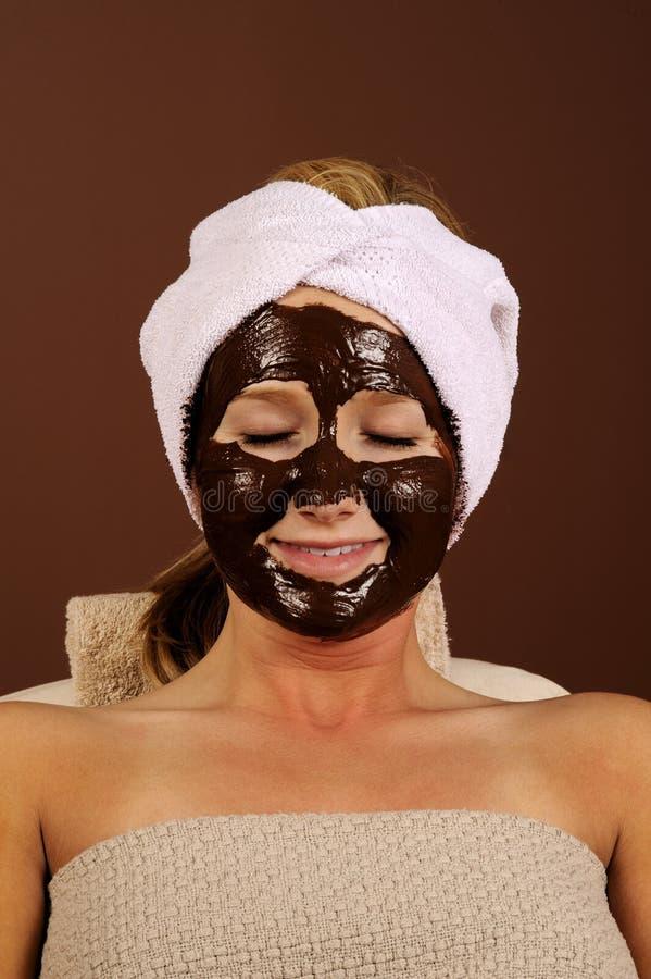 Máscara orgânica do Facial do chocolate de Skincare imagens de stock royalty free