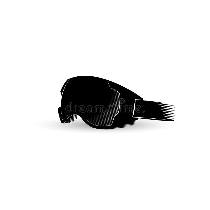 Máscara para los deportes de invierno Deportes extremos Ilustración del vector ilustración del vector
