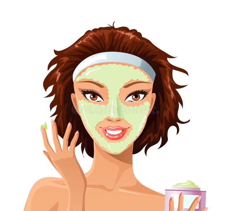 Máscara protectora ilustração stock