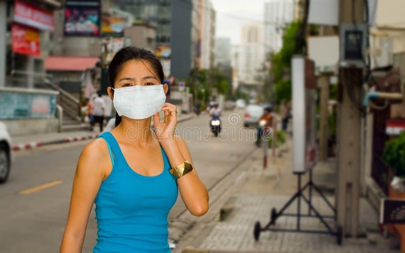 Máscara protectora em Banguecoque foto de stock royalty free