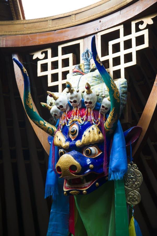 Máscara ritual budista fotografía de archivo libre de regalías