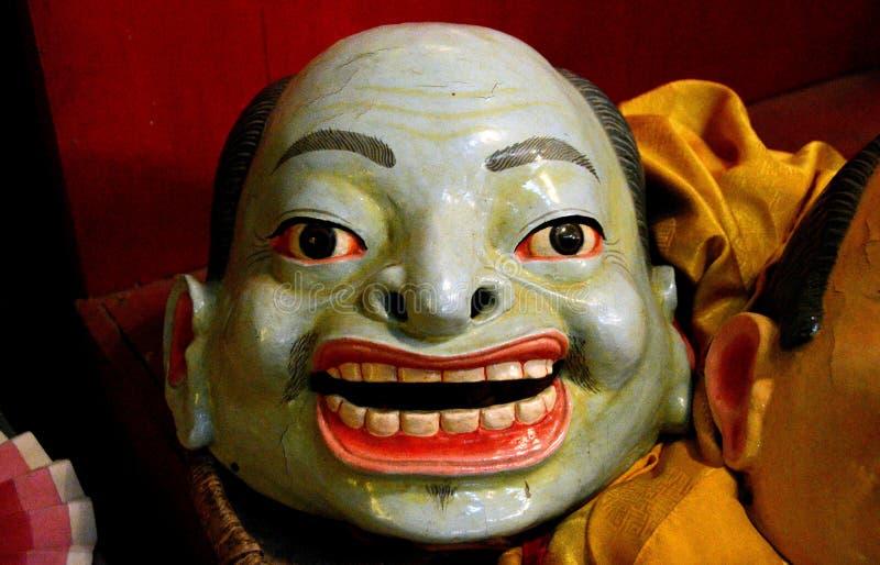 Máscara ritual budista en Katmandu fotos de archivo
