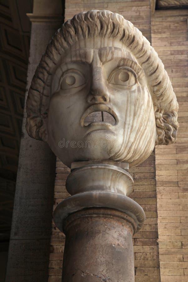 Máscara romana do drama esquisito, Roma, Itália fotos de stock