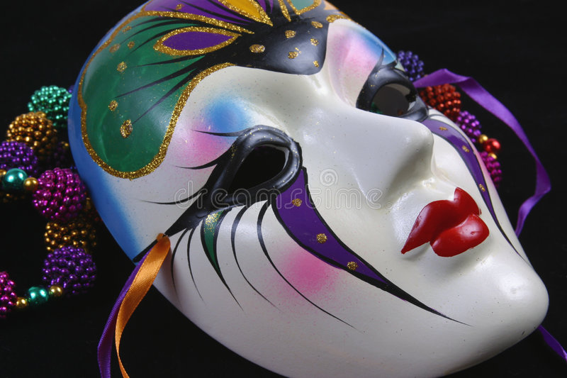 Máscara Sideview do carnaval imagens de stock