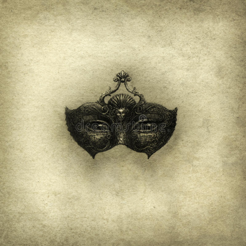 Máscara surreal ilustração stock