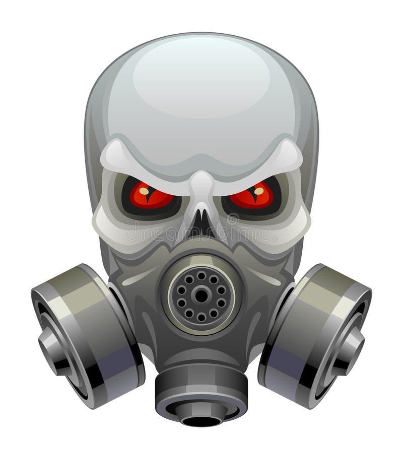 Máscara tóxica del cráneo libre illustration