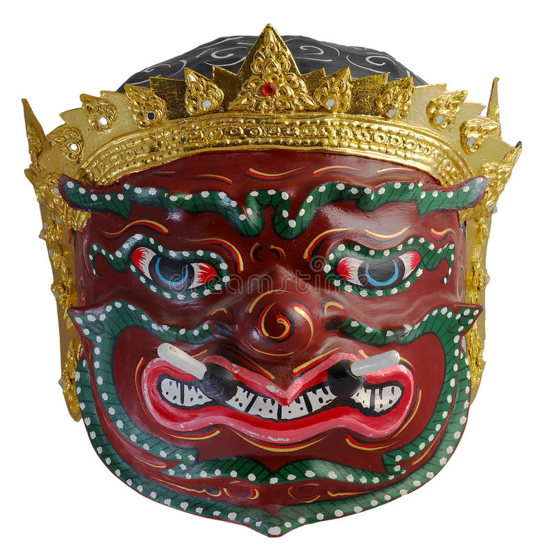 Máscara tailandesa Phra Pirap, el director gigante de Khon de artes interpretativas imagen de archivo