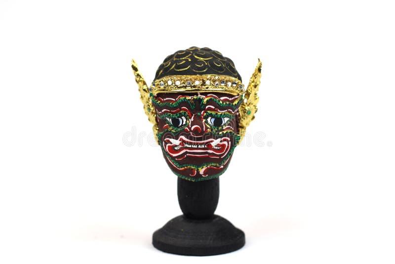 Máscara tailandesa tradicional do ` s do ator, Khon foto de stock