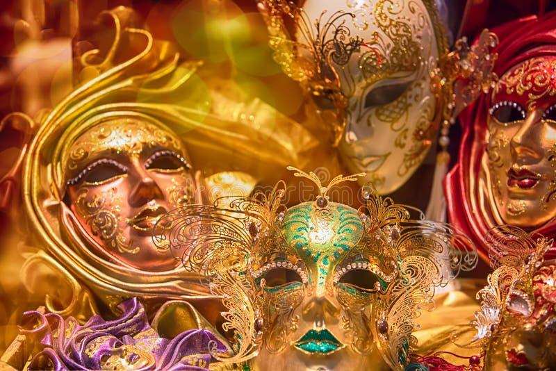 Máscara tradicional de Veneza - símbolo do carnaval fotografia de stock