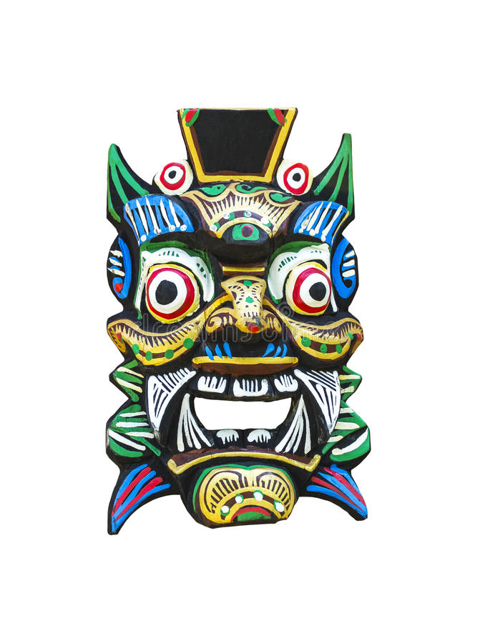 Máscara tradicional do balinese foto de stock royalty free