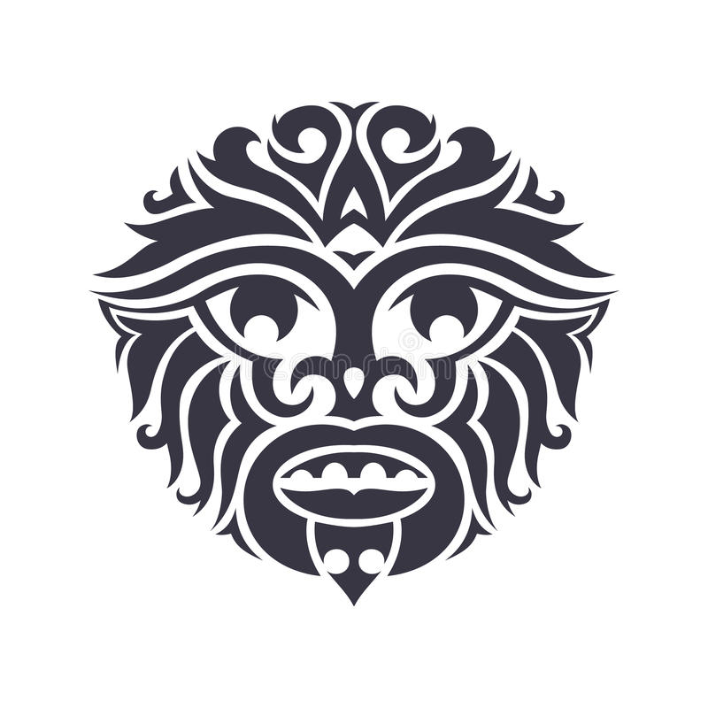 Máscara tribal stock de ilustración