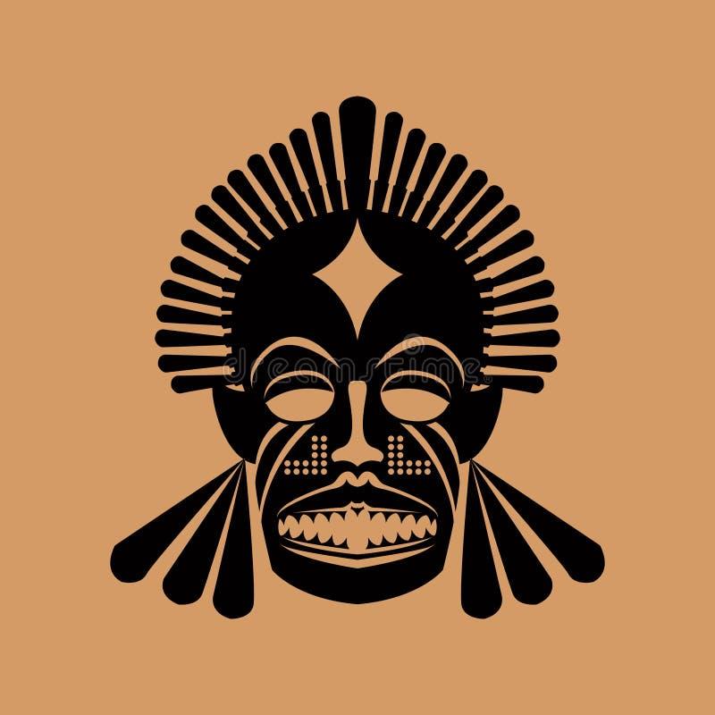 Máscara tribal ilustração royalty free