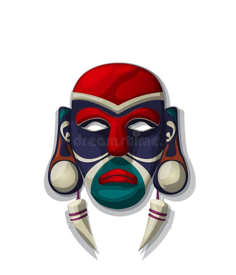 Máscara tribal do vetor ilustração royalty free