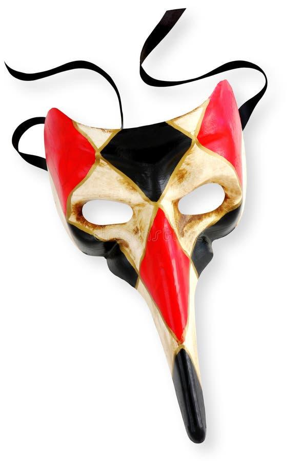 Máscara veneciana (con el camino) fotos de archivo