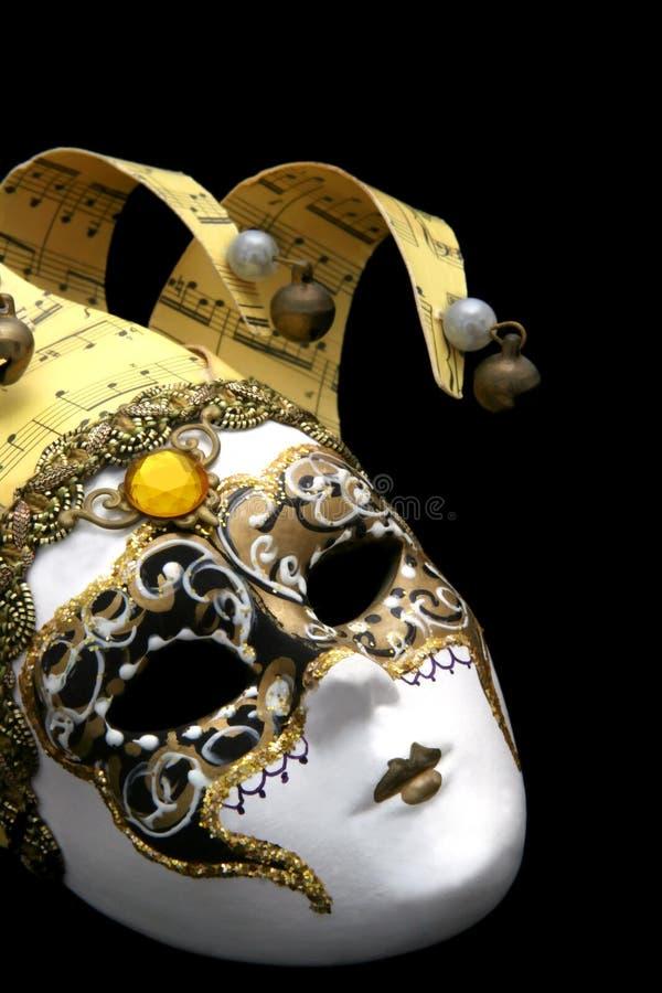 Máscara veneciana de oro fotografía de archivo