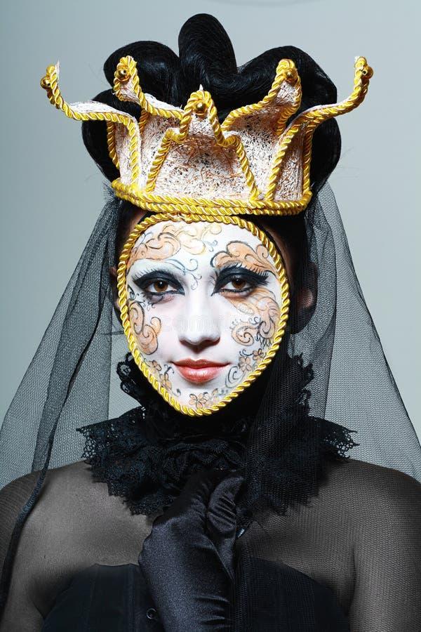 A máscara Venetian compõe imagens de stock royalty free