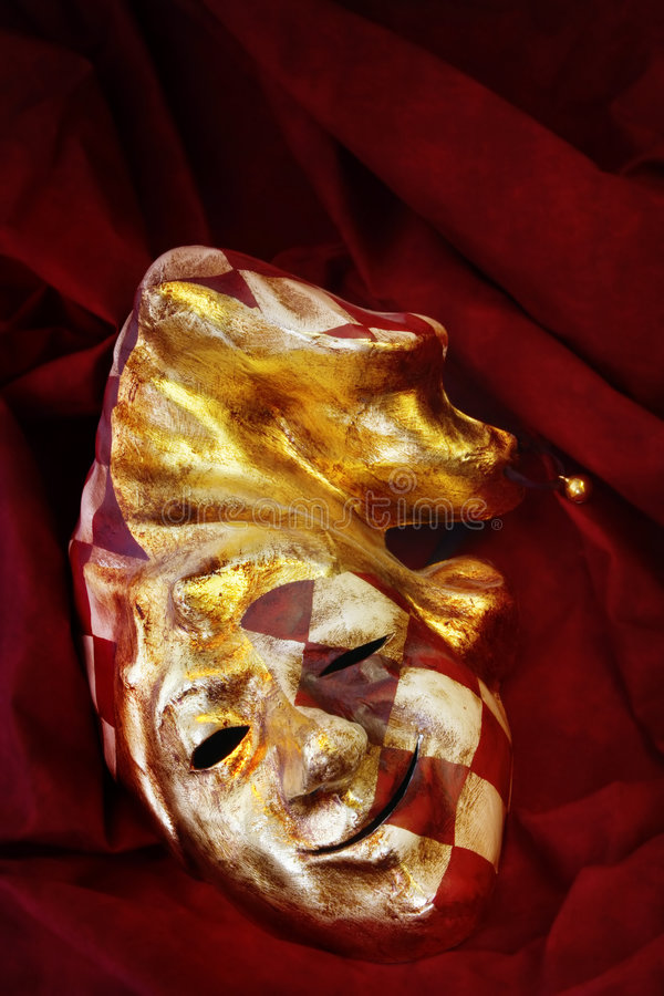 Máscara Venetian do Jester foto de stock royalty free