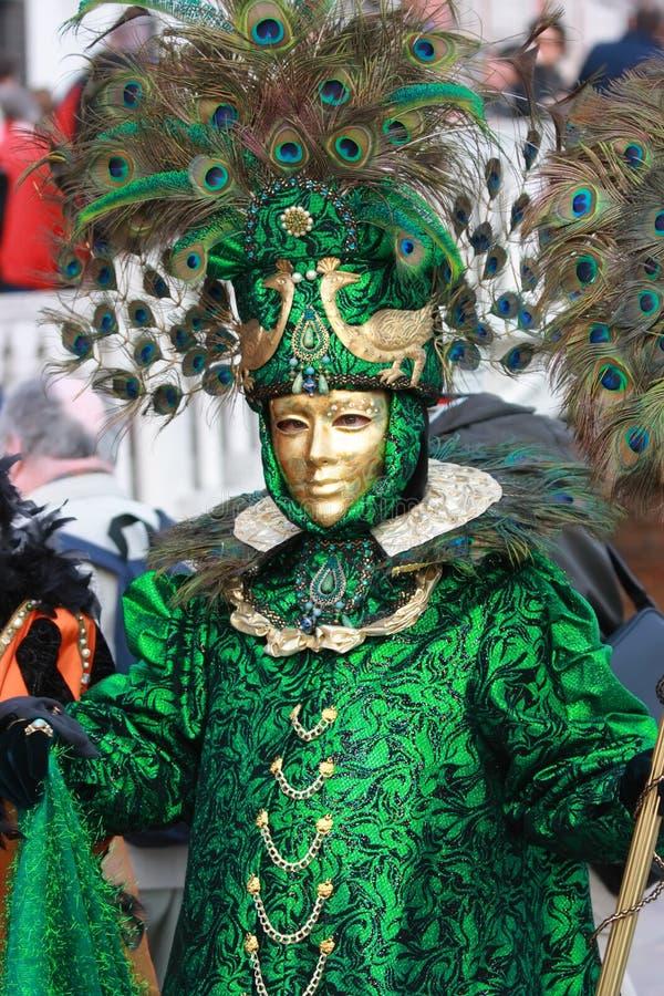 Máscara Venetian do pavão fotos de stock
