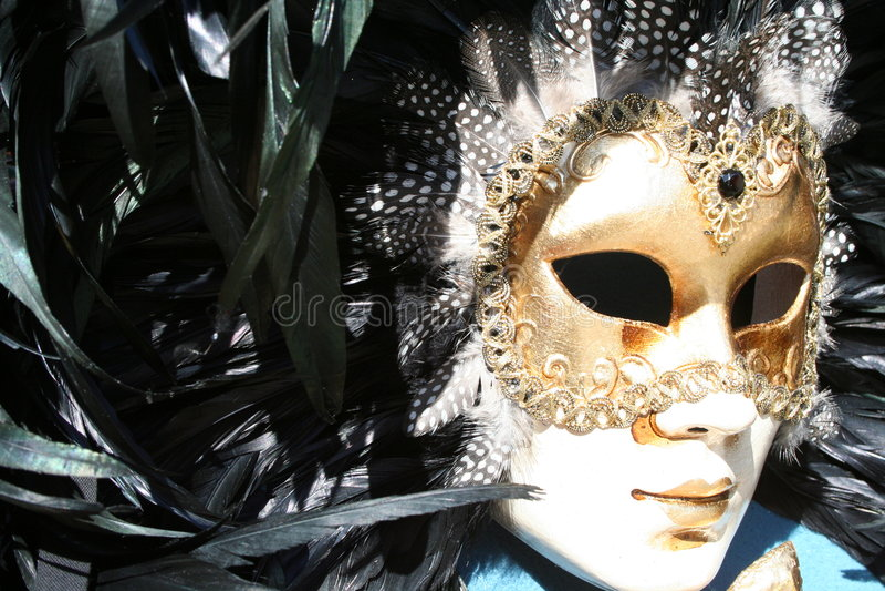 Máscara venetian tradicional foto de stock