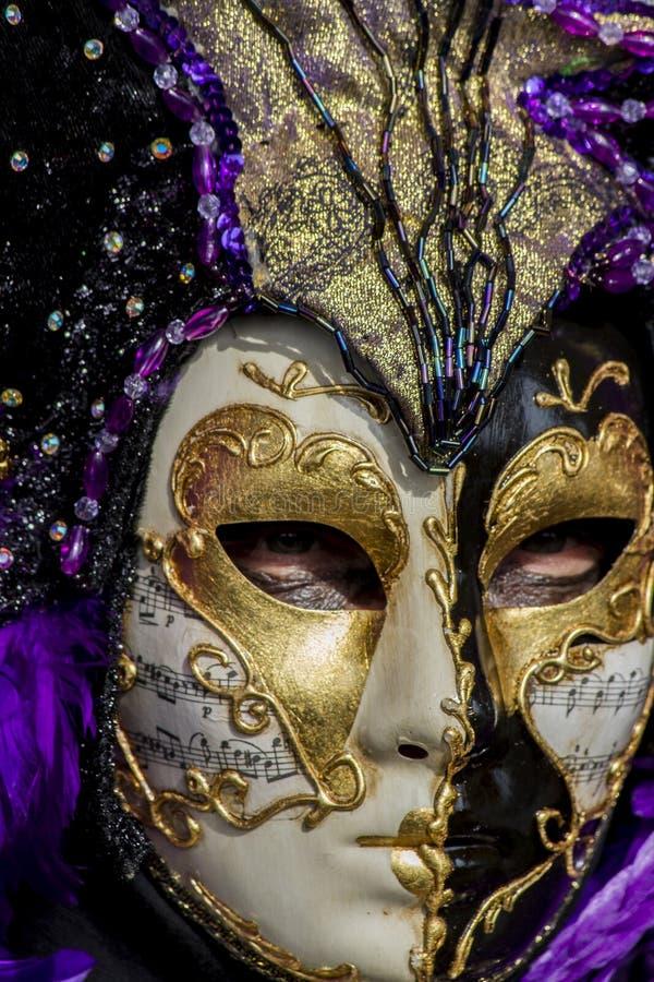 Máscara venetian tradicional do carnaval imagem de stock