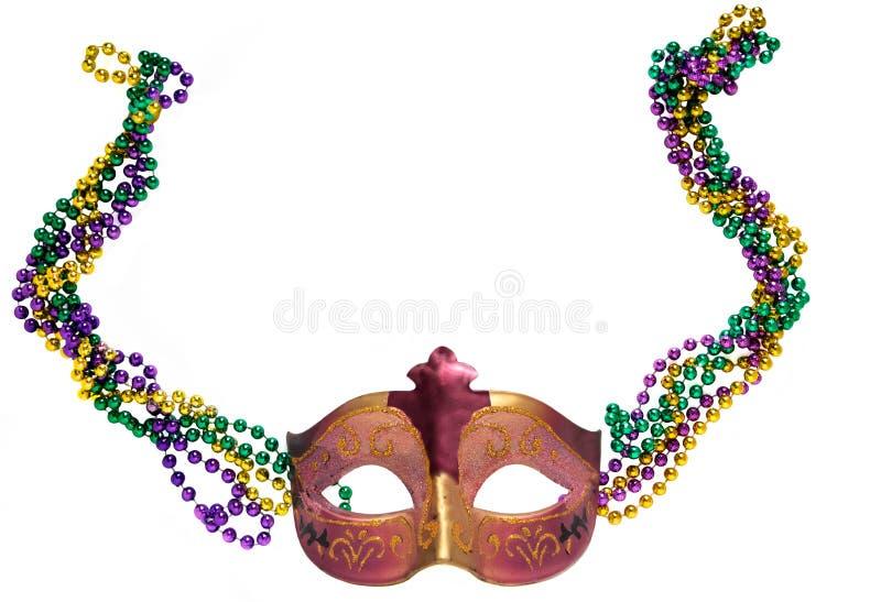 Máscara y granos del carnaval fotos de archivo