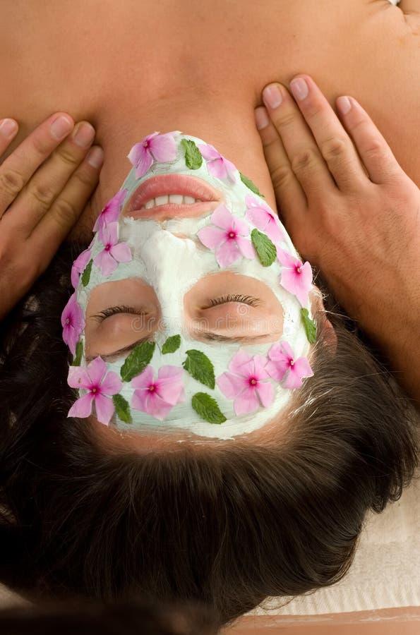 Máscara y masaje de la naturaleza fotografía de archivo