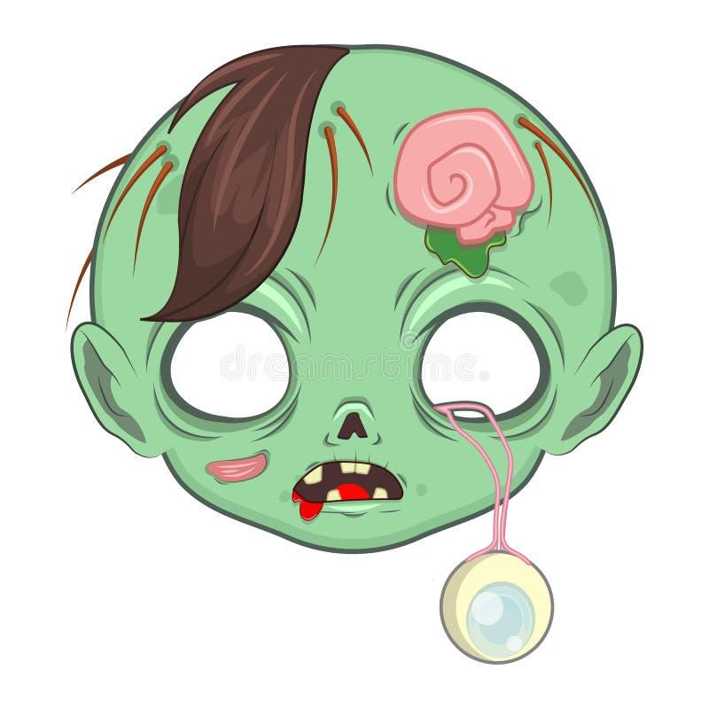 Máscara zombie para uma série de ocasiões especiais ilustração do vetor