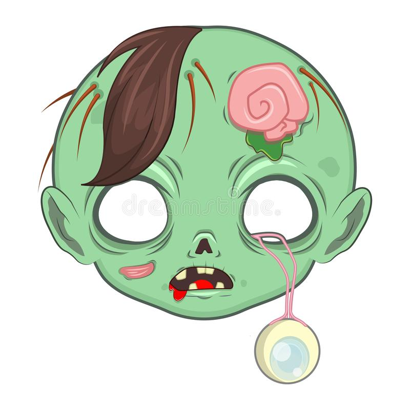 Máscara zombie para una serie de ocasiones especiales ilustración del vector