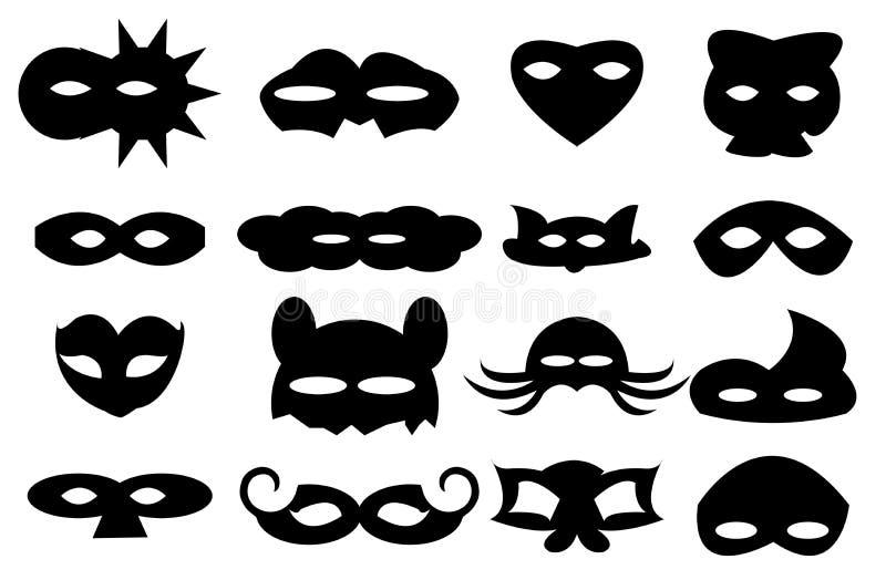 Máscaras ilustración del vector