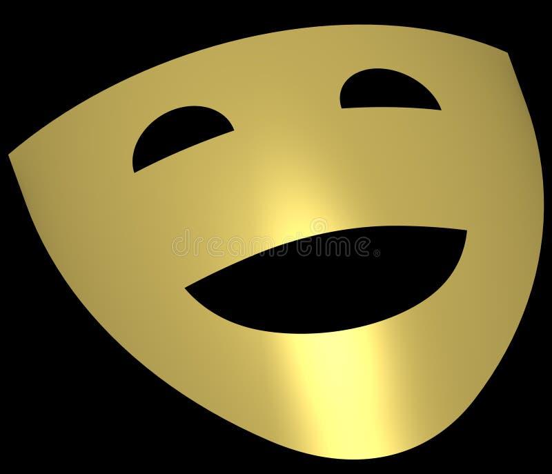 Máscaras 4 do teatro ilustração royalty free