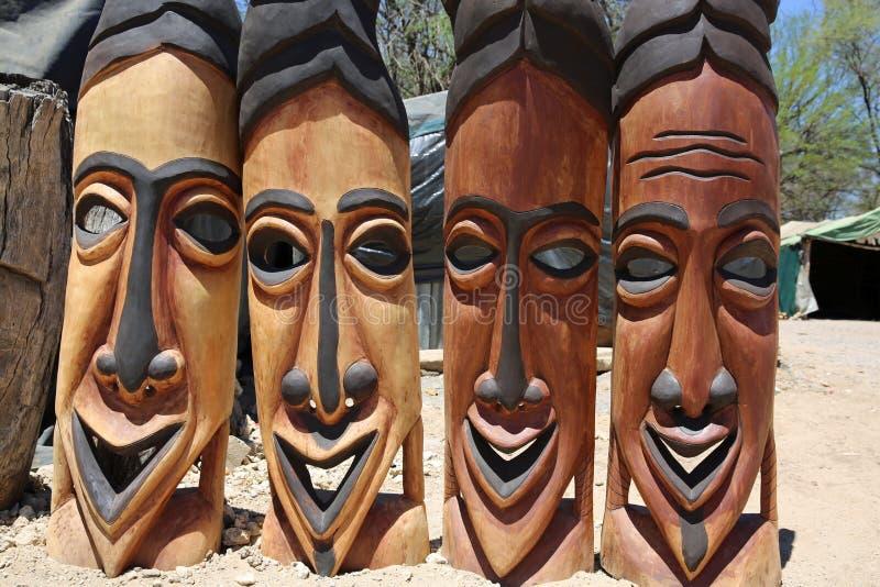 Máscaras africanas foto de archivo libre de regalías