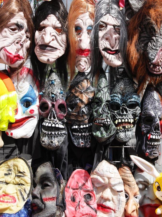 Máscaras assustadores de Halloween fotos de stock royalty free