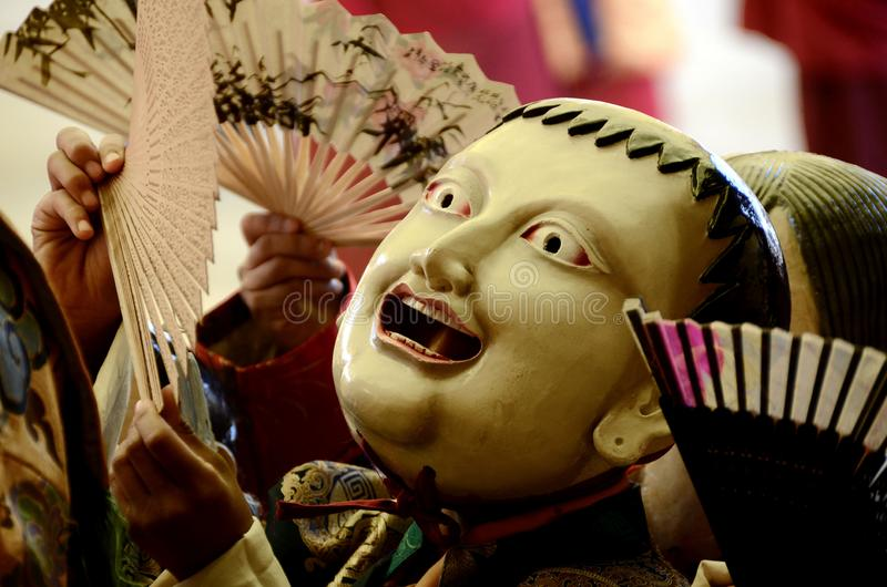Máscaras budistas, Katmandu, Nepal foto de archivo