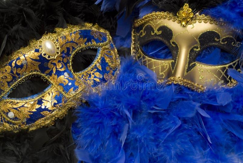 Máscaras coloridas imagen de archivo