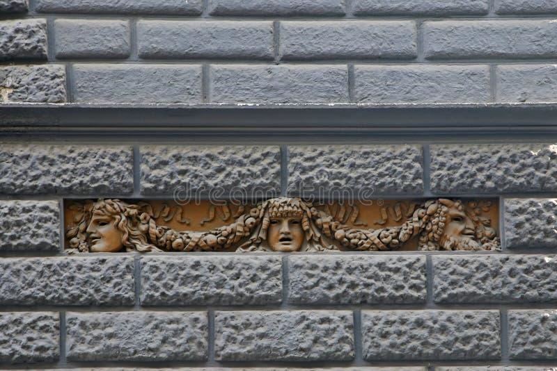 Máscaras com o conceito do teatro - teatro San Carlo imagem de stock