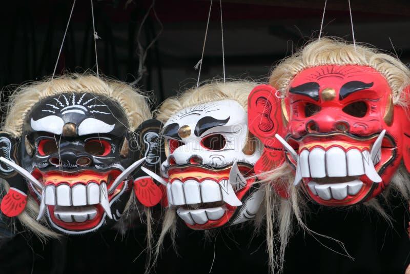 Máscaras da cultura do Balinese imagens de stock royalty free