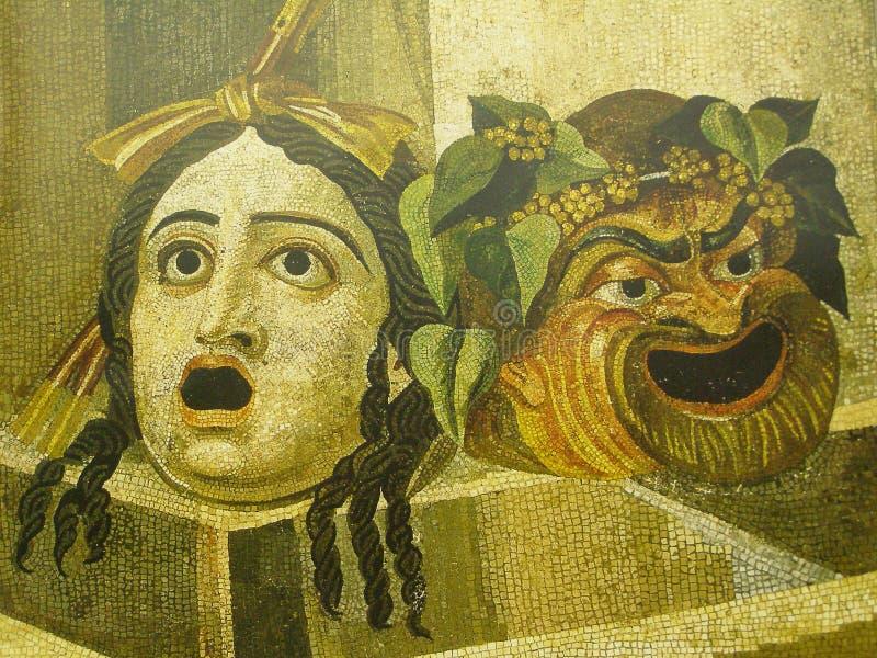 Máscaras da tragédia e da comédia imagem de stock royalty free