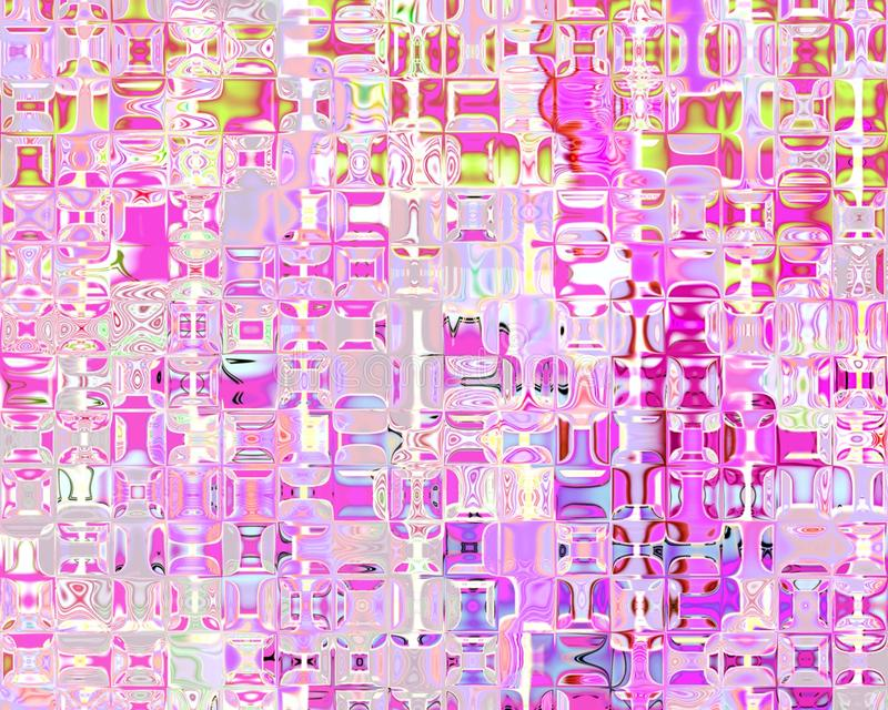 Máscaras de cristal das reflexões da arte genética da cor-de-rosa ilustração royalty free